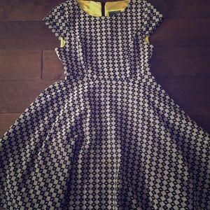 Anthropologie Maeve Dress retro print style